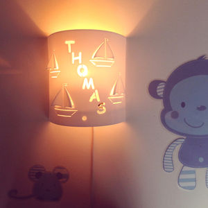 Personalised Boat Wall Night Light - lighting
