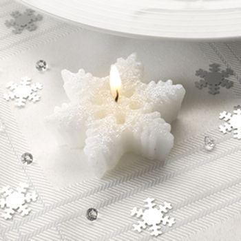 Eight Piece Snowflake Christmas Table Decoration Set