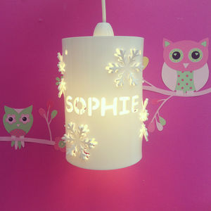 Personalised Snowflake Ceiling Shade - ceiling lights