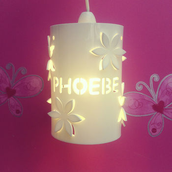 Personalised Flower Ceiling Shade
