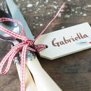 Personalised Christmas Place Setting Decoration