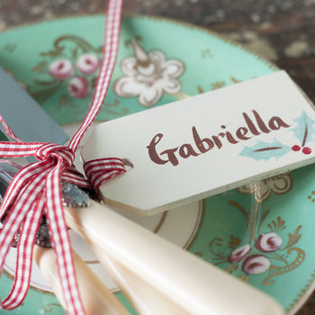 Personalised Christmas Gift Tag And Table Decoration