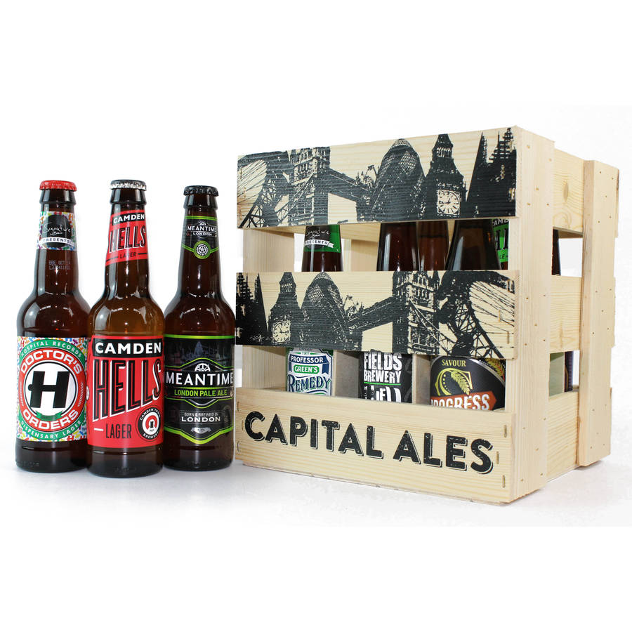 Craft Brewery London Wooden Crate of London Craft