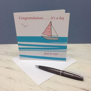'Congratulations It's A Boy' Card - new baby & christening cards