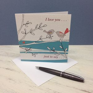 'I Love You' Card - wedding cards