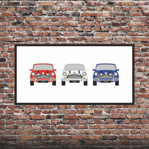 Personalised Mini Car Print Italian Job