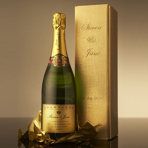 Personalised Christmas Champagne - hampers