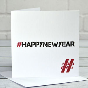 Hashtag Happy New Year Card