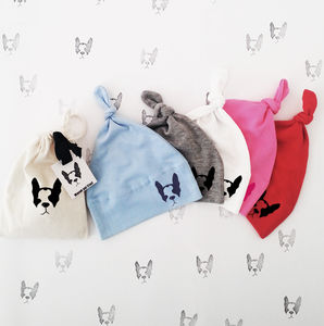 Dog Logo Knot Hat - babies' hats