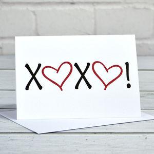 Xoxo Greetings Card