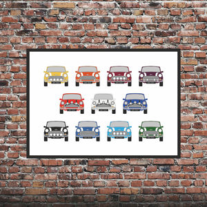 Personalised Mini Car Print X11