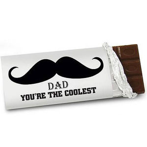 Personalised Moustache Chocolate Bar - chocolates