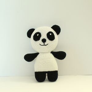 Hand Crochet Baby's First Panda Bear - toys & games