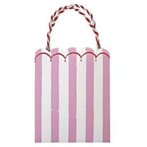 Toot Sweets Pink Candy Stripe Party Bags