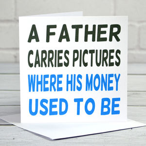 Father Carries Pictures Father's Day Card