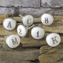Ceramic Alphabet Letters And Numbers Knob