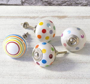 Colourful Childrens Bedroom Cupboard Door Knobs - door knobs & handles