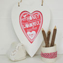 Personalised Teacher Christmas Framed Heart Print