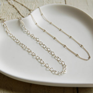 Delicate Sterling Silver Chain - necklaces & pendants