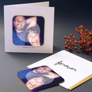 Instagram Greeting Card With Coaster