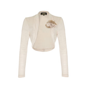 Shrug In Ivory Fine Knit - jumpers & cardigans