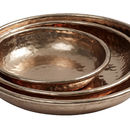 Set Of Three Copper Coloured Trays