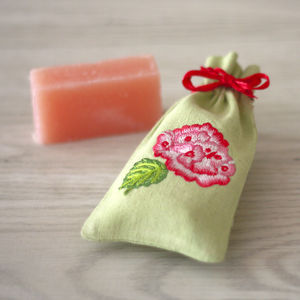 Geranium And Rose Gift Soap - health & beauty sale