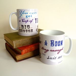 Cs Lewis Cup Of Tea Literary Mug - book-lover