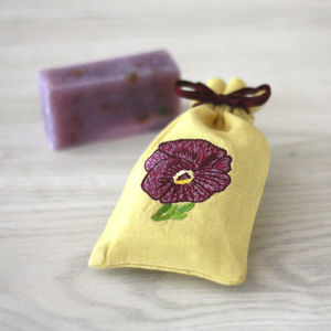 Pansy And Lavender Gift Soap