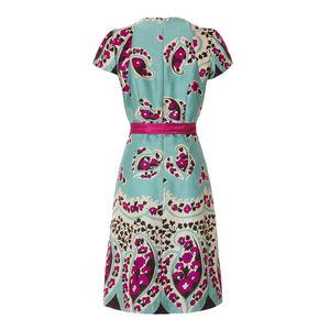 Blaine Dress In Rose Villette Print Silk Viscose - dresses