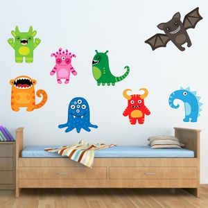 Happy Monsters Wall Stickers - children's room accessories