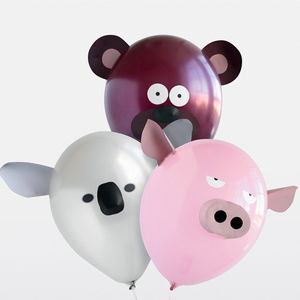 Pack Of Six Airhead Animal Balloons - children's birthday