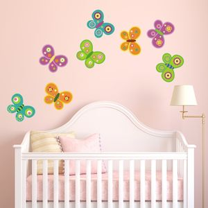 Butterfly Fabric Wall Stickers - children's room
