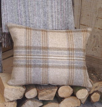 ' Handmade Luxury Irish Linen And Wool ' Cushion