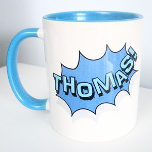 Personalised Comic Superhero Mug