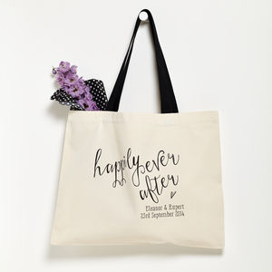 Personalised 'Happily Ever After' Wedding Bag - shopper bags