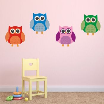 Owl Fabric Wall Stickers