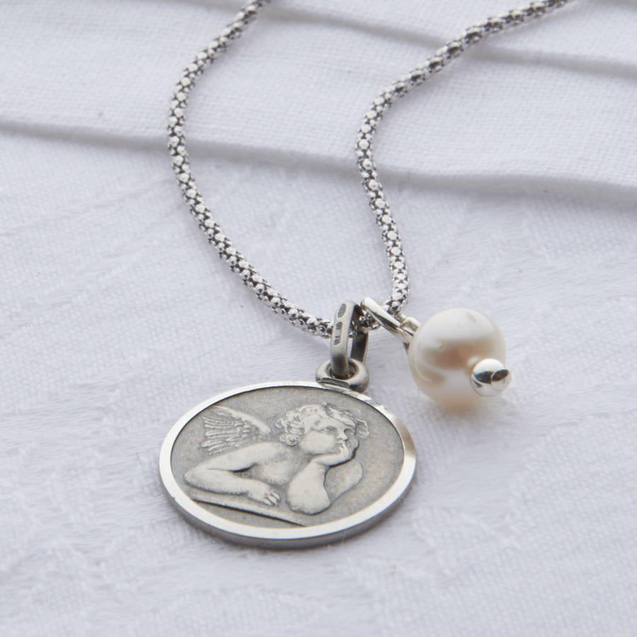 pendant praying if co baby partially cherub diamonds products with iced yellow gold necklace angel hands