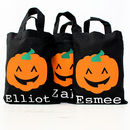 Halloween Personalised Trick Or Treating Bag
