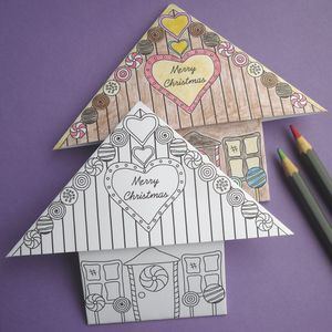 Origami Colour In Christmas Card