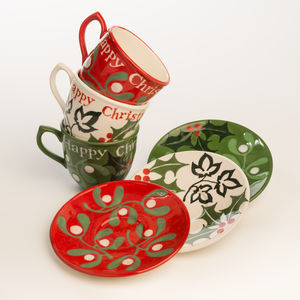Personalised Christmas Cup And Saucer - christmas