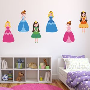 Princess Fabric Wall Stickers Pack