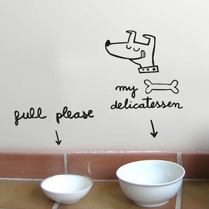 Dog Dinnertime Vinyl - wall stickers