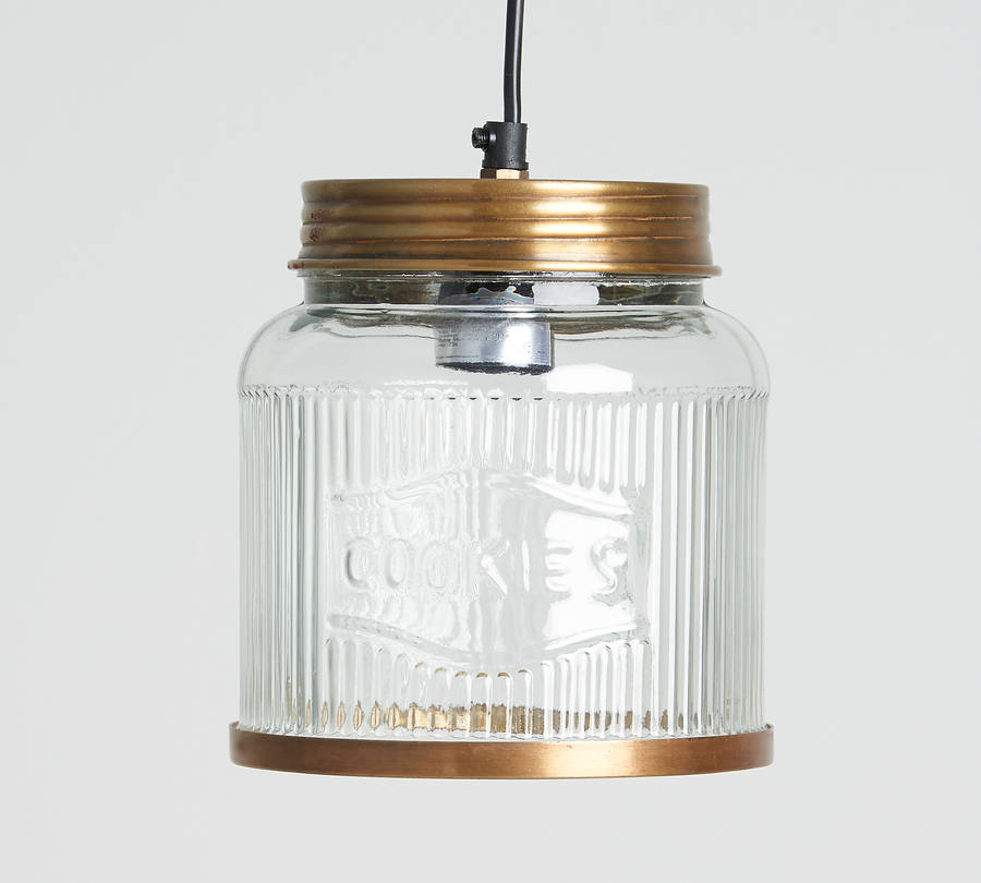 Glass Cookie Jar Pendant Light By Horsfall Wright