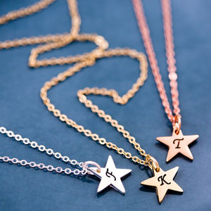 Personalised Little Star Necklace - stocking fillers under £15