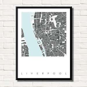 Liverpool Map Art Limited Edition Prints