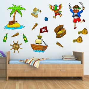 Pirate Wall Stickers Pack