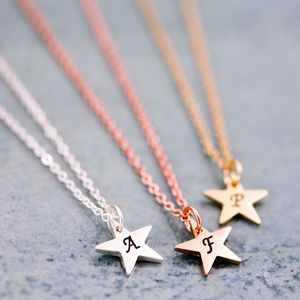 Personalised Little Star Necklace - wedding jewellery