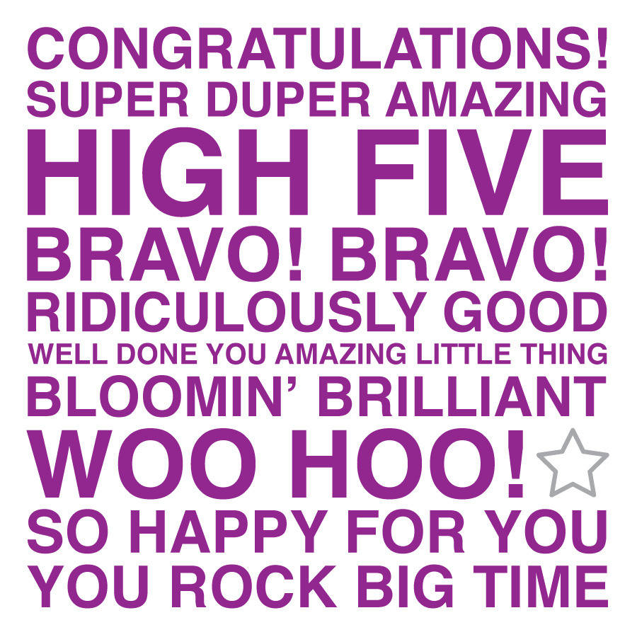 Congratulations Sentiments Card