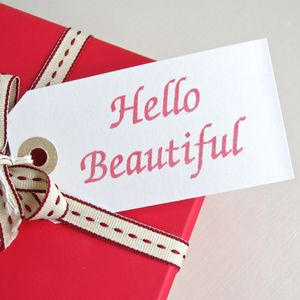 'Hello Beautiful' Gift Tag